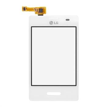 LG Optimus L3 II E430 Display Glas & Touch Screen - Hvid