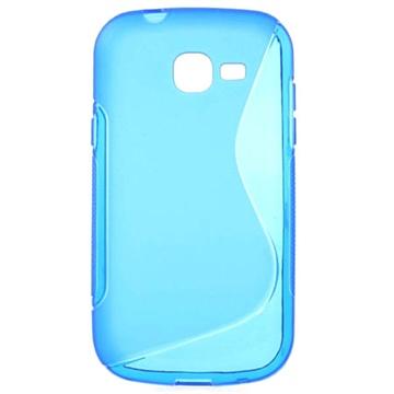 Samsung Galaxy Fresh S7390 S-Curve TPU Cover - Blå MTP Products til  - MediaNyt