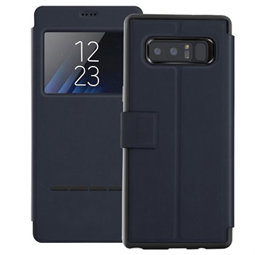 View Window Samsung Galaxy Note 8 Smart Flip Cover - Mørkeblå