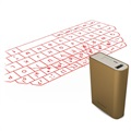 3 in 1 Bluetooth Laser Tastatur & Mus / Power Bank F3 - Guld