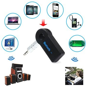 Universal Bluetooth / 3.5mm Audio Modtager - Sort