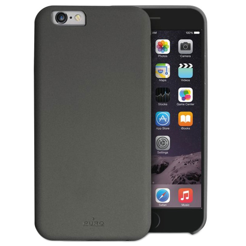 iphone 6 6s puro soft touch cover space gr. Black Bedroom Furniture Sets. Home Design Ideas