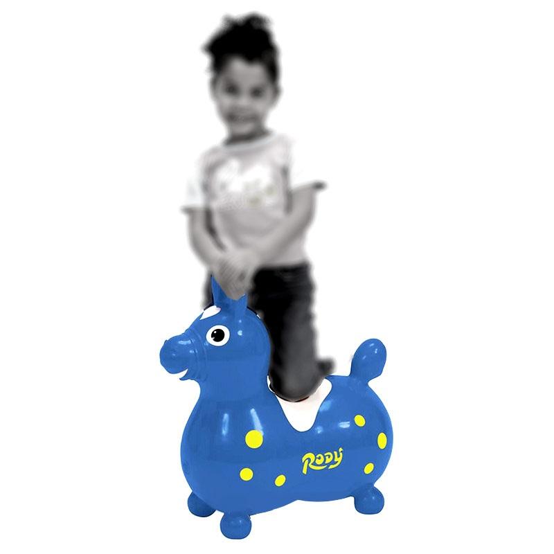 Gymnic Rody Oppustelig Hoppehest - Blå / Gul
