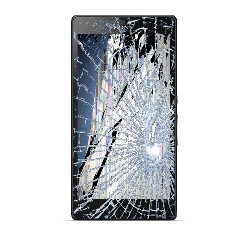 Sony xperia z lcd display og touch glas reparation hvid